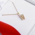 Zlatý dámsky prívesok DF 4756, žlté zlato, s briliantom