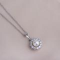 Zlatý dámsky prívesok DF 4301, biele zlato, sladkovodná perla