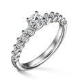 Dafné | Zásnubný prsteň so stredovým kameňom 0.25ct, biele zlato, s diamantmi