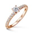 Aria   Zásnubný prsteň so stredovým kameňom 0.25 ct, ružové zlato, s diamantmi