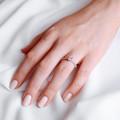 Arlene Side Stones   Zásnubný prsteň so stredovým kameňom 0.73 ct, ružové zlato, s diamantmi