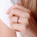 Harmonia   Zásnubný prsteň so stredovým kameňom 0.25ct, ružové zlato, s diamantmi