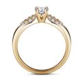 Luna | Zásnubný prsteň so stredovým kameňom 0.25 ct, žlté zlato, s diamantmi