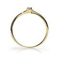 Zlatý zásnubný prsteň DF 2943, žlté zlato, s briliantom